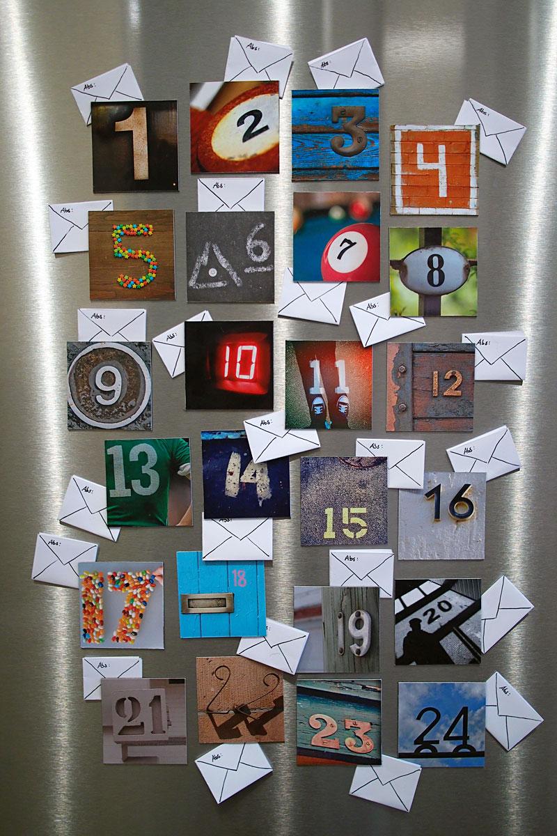Instagram-Magnete und ein haftbarer Adventskalender