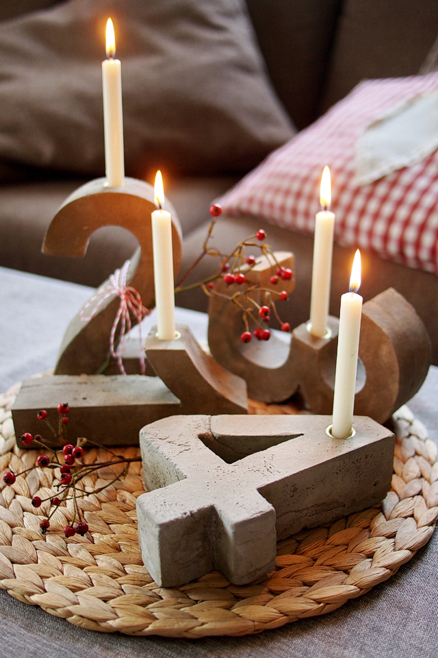 Ey voll konkreter diy blitz zement adventskranz fee ist mein name - Pinterest adventskranz ...