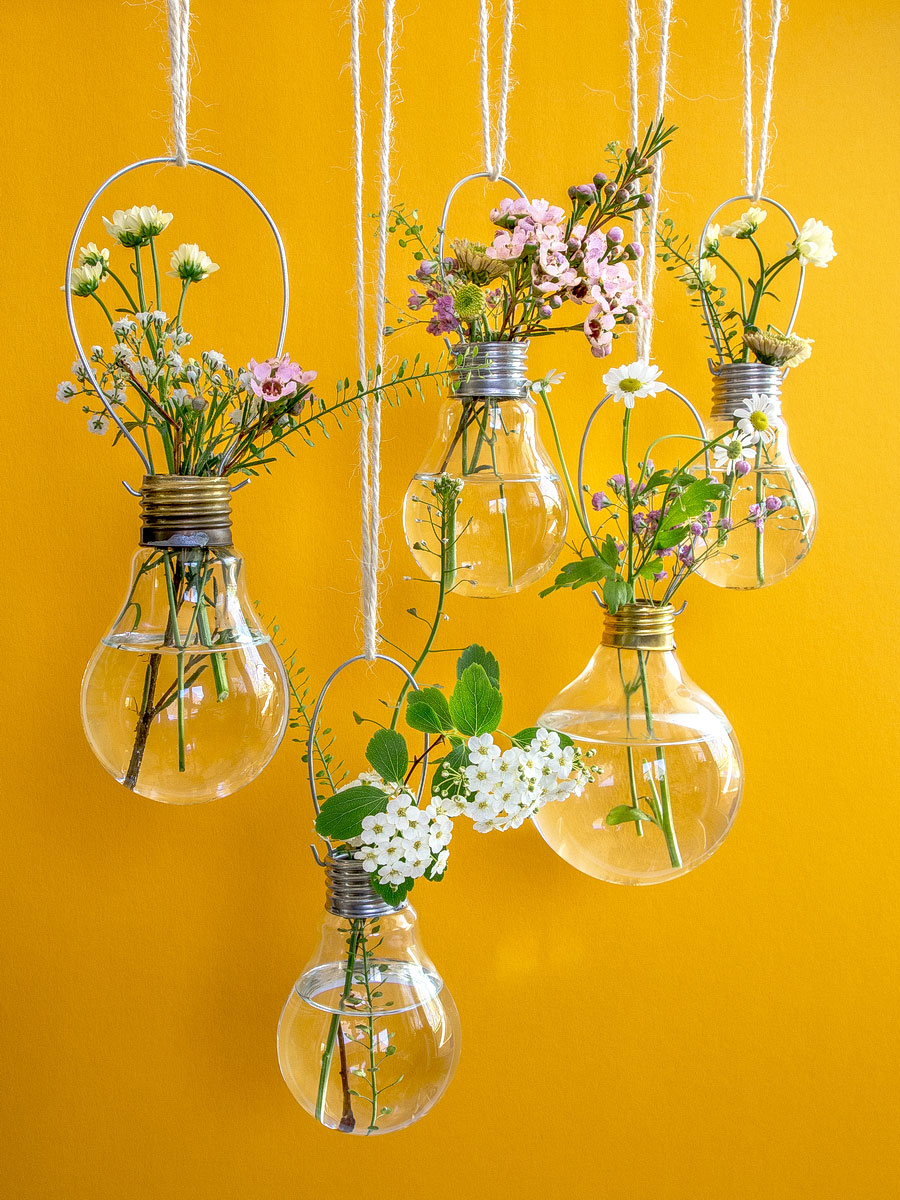 Hanging Light Bulb Planters Vases Diy Fee Ist Mein Name