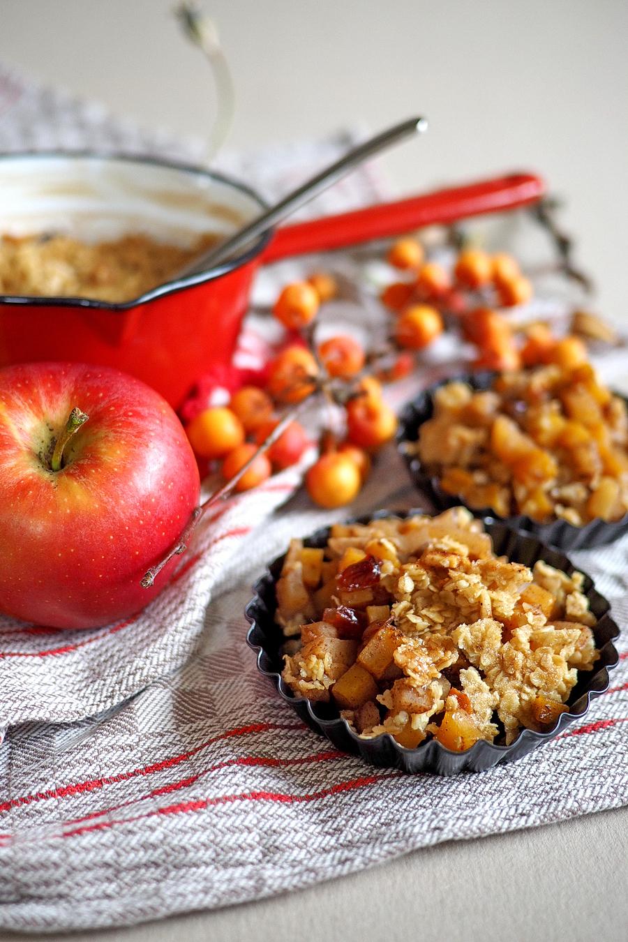 W rziges apfel k rbis crumble die perfekte herbst for Apfel basteln herbst