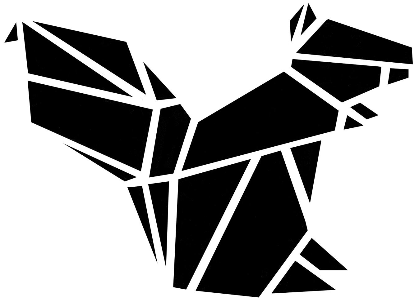 mach 39 s dir selbst diy f r origami eichh rnchen kissen in. Black Bedroom Furniture Sets. Home Design Ideas