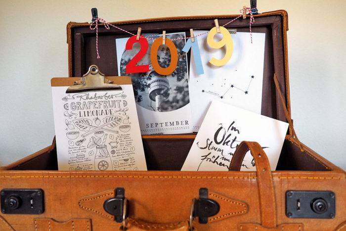 Heute im Gepäck: Kalender-Freebie-Neuauflagen 2019