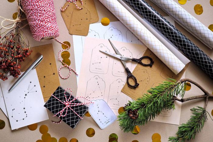 Ich seh' Sterne – Geschenkanhänger- und Weihnachtskarten-Freebies mit meinen beliebten Sternbildmotiven