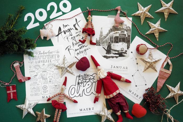Alle Jahre wieder … oder: Kalenderfreebies 2020